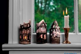 halloween decorations mini ghost town candles from country living