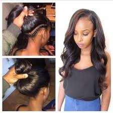 back hair sewing hair styles full sew in with an invisible part done by giftedtouch on ig