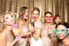 wedding photo booths corporate photo booth custom gold sequin backdrops the photo