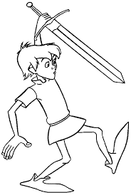 the sword in the stone arthur coloring pages wecoloringpage