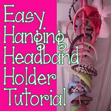 headband organizer hello kirsti hanging headband holder tutorial