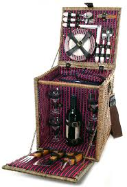 wine picnic baskets beyond tuscan deluxe willow picnic basket for four with bbq