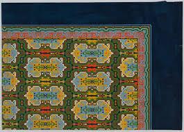 Big Rug Carpet Design By M D Renssen 1900 1919 Deventer Musea Cc By