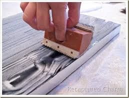 recaptured charm how to use a wood graining tool