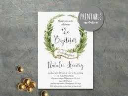 printable baptism invitation baptism invitation