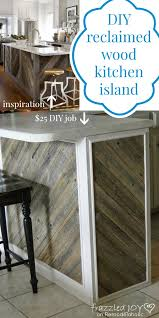 kitchen island wood remodelaholic diagonal planked reclaimed wood kitchen island