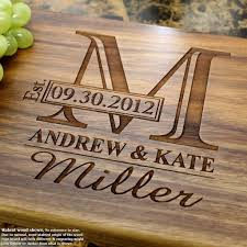 wedding gift engraving ideas wedding ideas wedding cutting boards personalized etsy engraved
