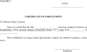 Work Certification Letter Sle To Whom It May Concern Download Sample Certificate Of Employment For Free Tidyform