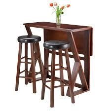 Bar Height Patio Dining Set - winsome trading harrington 3 piece counter height dining table set