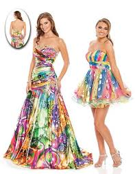 colorful dress wow prom colorful print party dress 3002s novelty