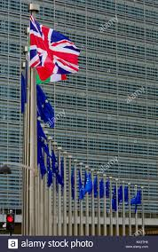 Th Flag Belgium Brussels Union Jack Flag Of The United Kingdom In Front