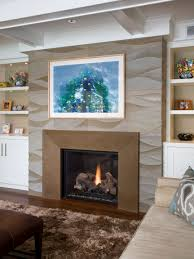 awesome fireplace surround tiles room design ideas modern to