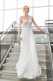 One Shoulder Wedding Dress Romantic One Shoulder Wedding Gown Design For Modern Brides