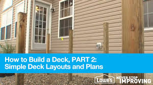 Home Depot Deck Design Pre Planner by How To Build A Deck Part 2 Simple Deck Layouts And Plans Youtube