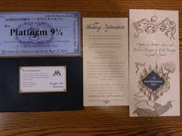 harry potter wedding invitations our harry potter wedding custom invitations the bewitching