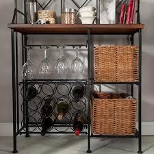 Baker Racks Amazon Com Metal Bakers Rack With Wine Storage Wine Glass