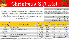 gift shopping list christmas gift shopping list template set budget track your