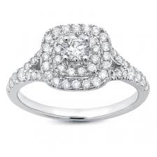 white gold halo engagement rings 14k white gold halo center 1ctw engagement ring