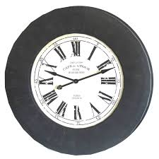 grande pendule horloge gà ante de style industriel ou loft 112cm