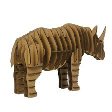 aliexpress com buy 3d puzzle rhino toys model paper craft kids