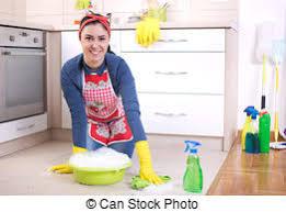 küche putzen stockfoto frau putzen kueche boden frau boden junger