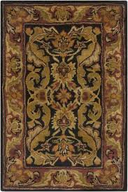 jaipur rugs classic arts and crafts pattern brown yellow wool area