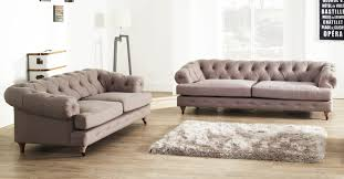 Chesterfield Sofas Ebay by Mayfair Chesterfield 3 2 Seater Stonewashed Linen Sofa Dove