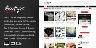 grid layout for wordpress boutique grid creative magazine wordpress theme by an themes