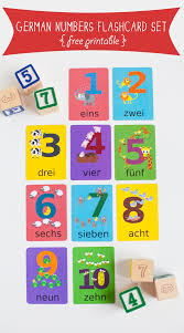 german numbers flashcard printable gus on the go language