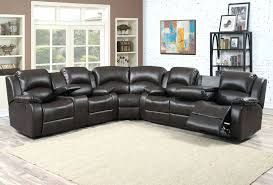 Leather Reclining Sofas Uk Extraordinary Black Leather 5 Seat Recliner Sectional Sofa