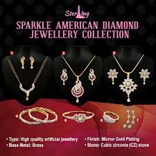 diamond necklace collection images Buy sparkle american diamond jewellery collection by sterling jpg