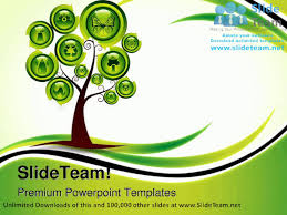 ecology tree environment powerpoint templates themes and