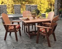 poly lumber 5 pc classic dining set