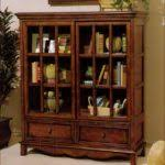 White Bookshelf With Glass Doors Bookshelf With Doors Glass Black Wooden Coffin Bookcase With