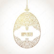 golden ornamental egg for easter design stock vector