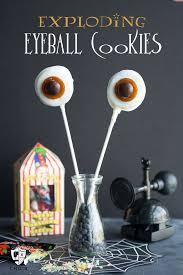exploding eyeball cookies