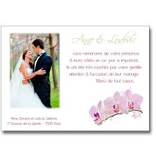 modele remerciement mariage carte de remerciement mariage branche d orchidée