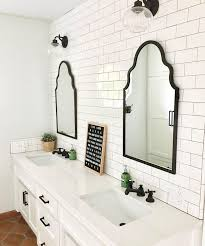 Oval Vanity Mirrors For Bathroom Stylist Inspiration Black Mirror Bathroom Modern And White With