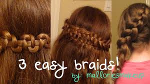 cool step by step hairstyles 3 easy braids for everyday youtube