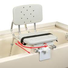 Bathtub Bench Seat Extra Short Sliding Tub Mount Transfer Bench With Swivel Seat And Back