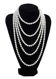 long pearl beaded necklace images 1920s pearls necklace gatsby accessories vintage jpg