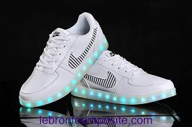 led lights shoes nike new arrival shoes nike air force 1 leather lights up with leds white