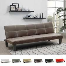 canap lit simili cuir canapé clic clac convertible économique 3 sièges similicuir topazio