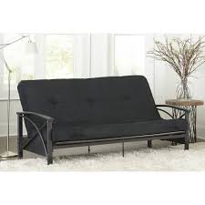 futon metal sofa bed mainstays monaco black metal futon with 6 mattress ebay