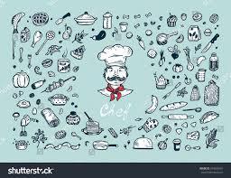 cooking vector set menu decoration hand stock vector 594266951