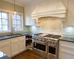 Modern Backsplash Kitchen L Shape Small Kitchen Decoration Using White Subway Tile Modern
