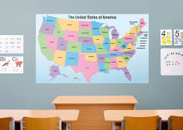 dry erase usa map with removable capital names wall decal shop dry erase usa map with removable capital names fathead wall decal