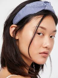 knotted headband lyst free gingham knotted headband in blue