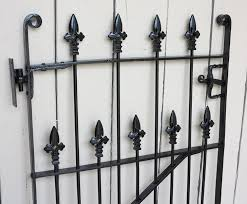 wrought iron pedestrian gate with hinges