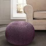 amazon com cotton craft hand knitted cable style dori pouf